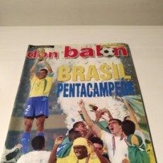 Coleccionismo deportivo: DON BALÓN MUNDIAL 2002 - DEDICATORIA CAMACHO. Lote 242172750