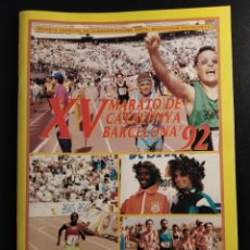 Coleccionismo deportivo: XV MARATHON DE CATALUNYA BARCELONA 92 CONTIENE POSTER. Lote 242209420