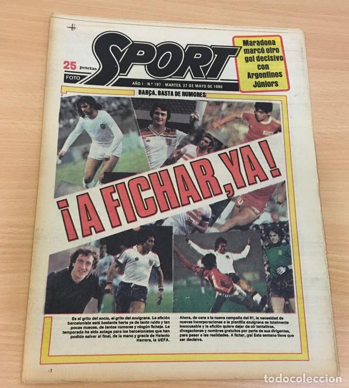DIARIO DEPORTIVO SPORT Nº 197 - 27 MAYO 1980 - A FICHAR YA - MARADONA MARCA CON ARGENTINO JÚNIORS (Coleccionismo Deportivo - Revistas y Periódicos - Sport)