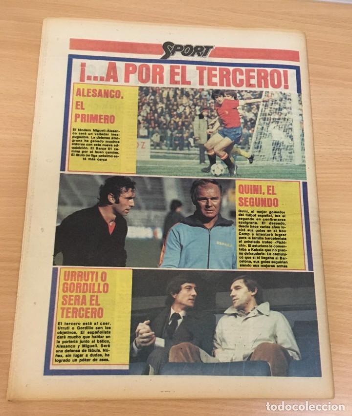 Coleccionismo deportivo: DIARIO DEPORTIVO SPORT Nº 211 - 10 JUNIO 1980 - QUINI AL FC BARCELONA - MARADONA AL CAER - Foto 4 - 242224535