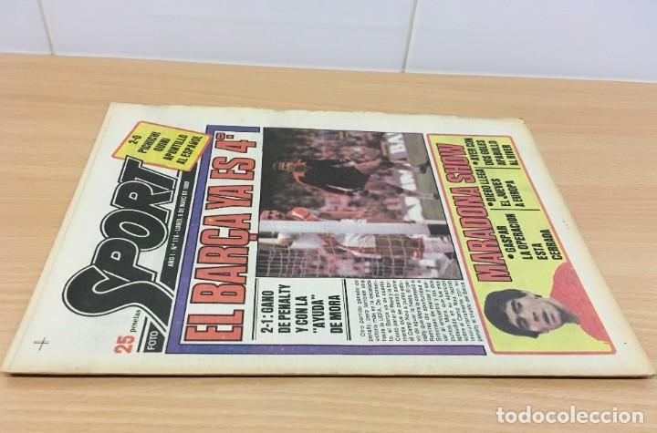 Coleccionismo deportivo: DIARIO DEPORTIVO SPORT Nº 176 - 5 MAYO 1980 - EL BARÇA YA ES 4º - MARADONA SHOW - Foto 2 - 242224615