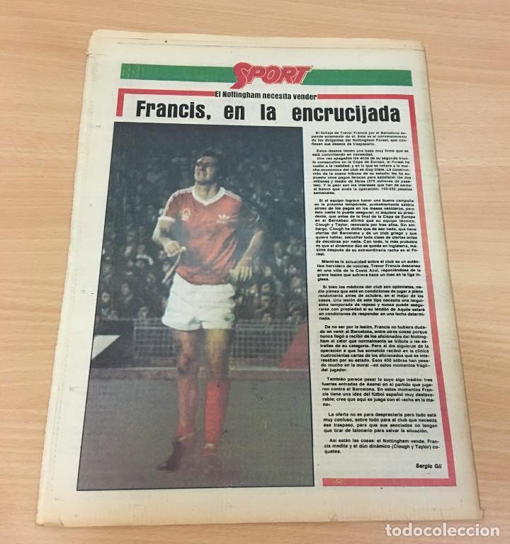 Coleccionismo deportivo: DIARIO DEPORTIVO SPORT Nº 202 - 1 JUNIO 1980 - F1 GP JARAMA PIRATA - MARADONA SE JUEGA EL TIPO - Foto 4 - 242224675