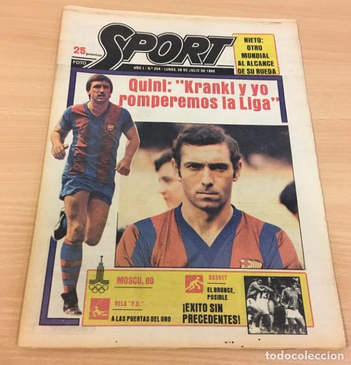 DIARIO DEPORTIVO SPORT Nº 254 - 28 JULIO 1980 - QUINI Y KRANKL - NIETO CASI CAMPEÓN (Coleccionismo Deportivo - Revistas y Periódicos - Sport)