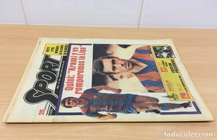 Coleccionismo deportivo: DIARIO DEPORTIVO SPORT Nº 254 - 28 JULIO 1980 - QUINI Y KRANKL - NIETO CASI CAMPEÓN - Foto 2 - 242224755