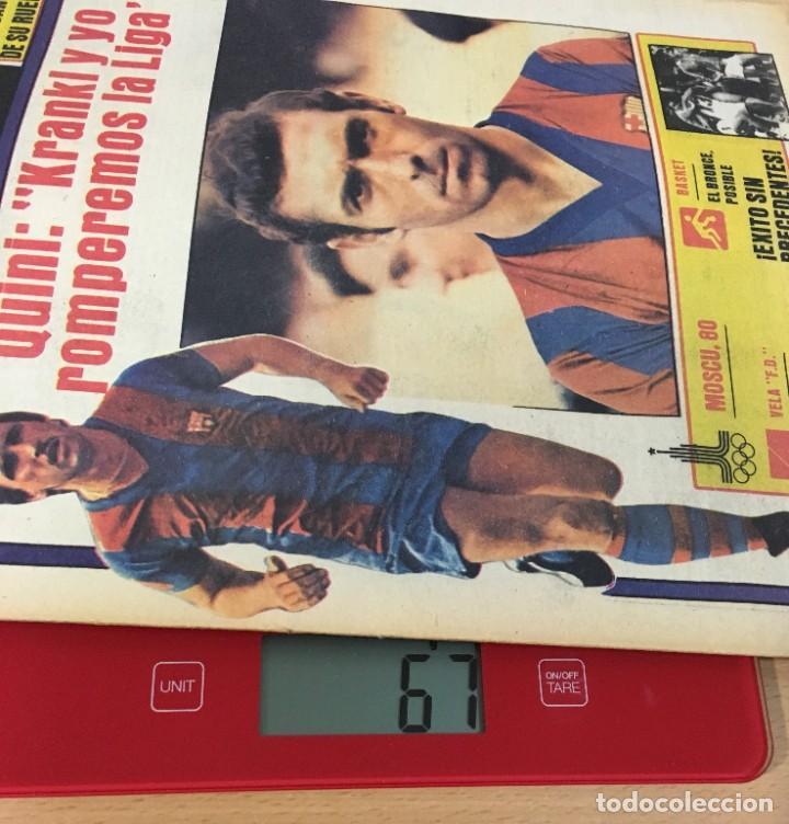Coleccionismo deportivo: DIARIO DEPORTIVO SPORT Nº 254 - 28 JULIO 1980 - QUINI Y KRANKL - NIETO CASI CAMPEÓN - Foto 5 - 242224755