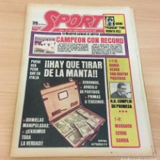 Coleccionismo deportivo: DIARIO DEPORTIVO SPORT Nº 189 - 19 MAYO 1980 - REAL MADRID CAMPEÓN LIGA - HAY QUE TIRAR DE LA MANTA. Lote 242224885