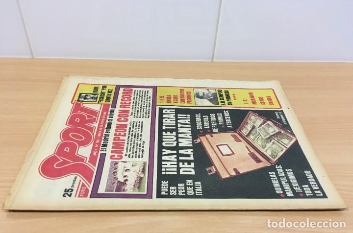 Coleccionismo deportivo: DIARIO DEPORTIVO SPORT Nº 189 - 19 MAYO 1980 - REAL MADRID CAMPEÓN LIGA - HAY QUE TIRAR DE LA MANTA - Foto 2 - 242224885