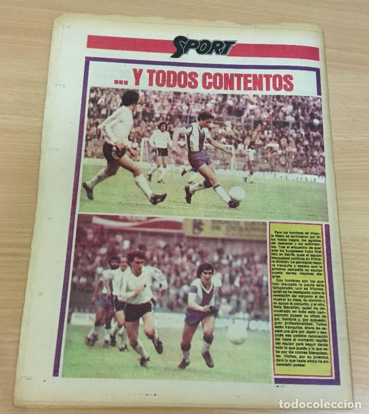 Coleccionismo deportivo: DIARIO DEPORTIVO SPORT Nº 189 - 19 MAYO 1980 - REAL MADRID CAMPEÓN LIGA - HAY QUE TIRAR DE LA MANTA - Foto 4 - 242224885