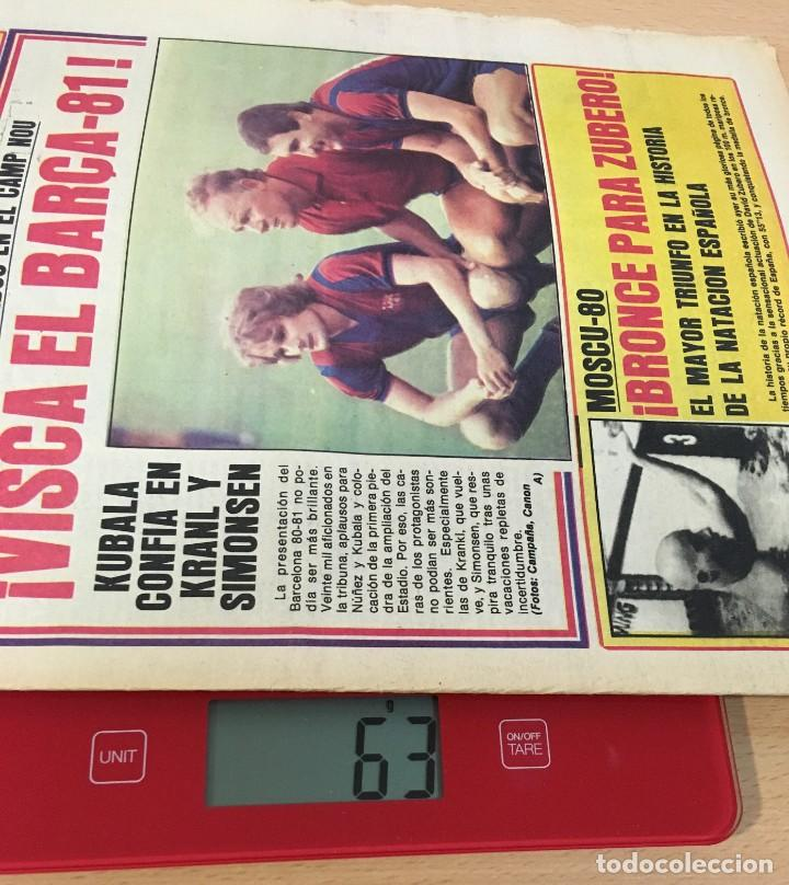 Coleccionismo deportivo: DIARIO DEPORTIVO SPORT Nº 251 - 24 JULIO 1980 - VISCA EL BARÇA 81 - BRONCE PARA ZUBERO EN MOSCÚ 80 - Foto 4 - 242224920