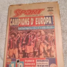Coleccionismo deportivo: SPORT. I COPA DE EUROPA BARÇA. 1992. WEMBLEY. CON PÓSTER. Lote 242386990
