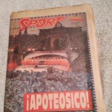 Coleccionismo deportivo: SPORT. INAGURACIÓN JUEGOS OLÍMPICOS DE BARCELONA. 1992. CON PÓSTER. Lote 242387860