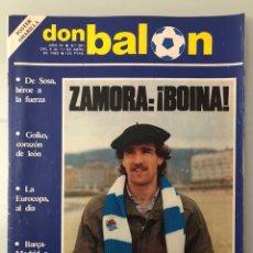 Coleccionismo deportivo: DON BALÓN 391 (ABRIL 1983) ZAMORA. SABADELL. BARCELONA. REAL MADRID. AMARILLA. GOICOECHEA. PORTA.. Lote 242865470