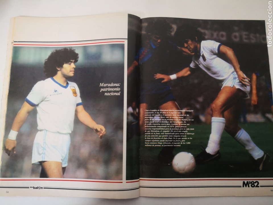 Coleccionismo deportivo: MARADONA PORTADA Y ENTREVISTA. DON BALÓN MUNDIAL ESPAÑA 1982. PAOLO ROSSI - Foto 3 - 242937235