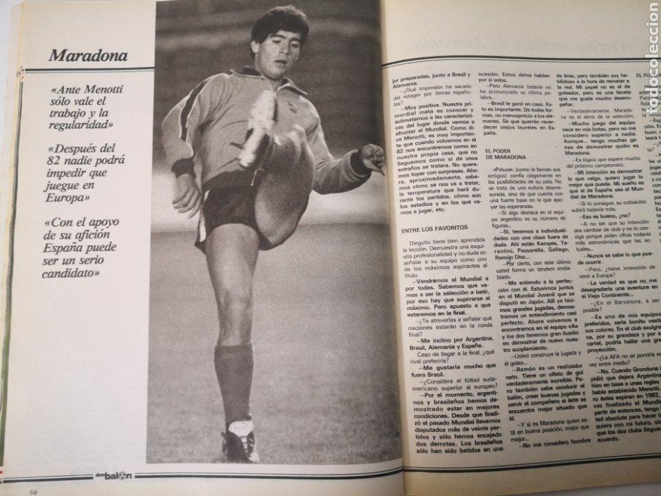 Coleccionismo deportivo: MARADONA PORTADA Y ENTREVISTA. DON BALÓN MUNDIAL ESPAÑA 1982. PAOLO ROSSI - Foto 5 - 242937235