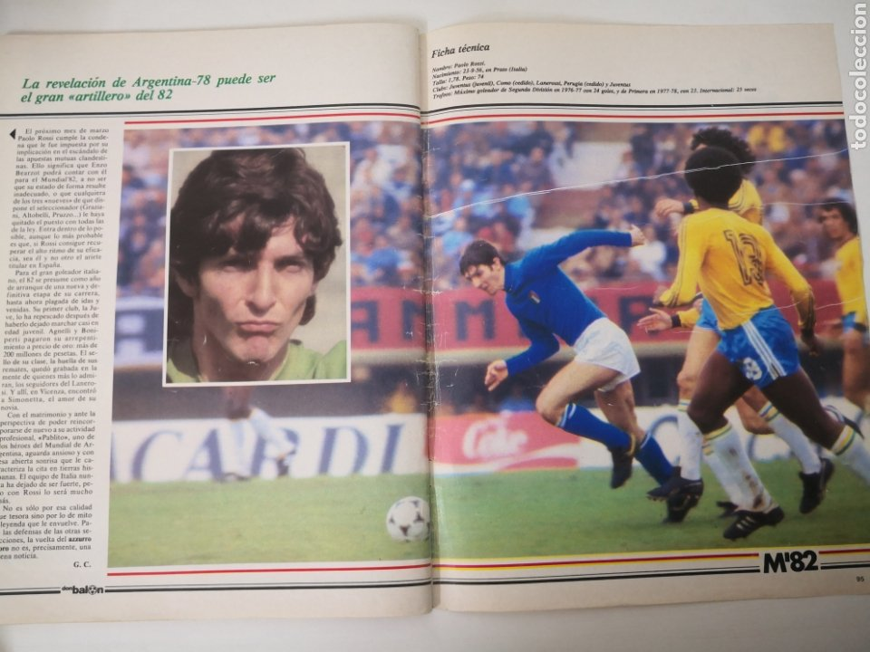 Coleccionismo deportivo: MARADONA PORTADA Y ENTREVISTA. DON BALÓN MUNDIAL ESPAÑA 1982. PAOLO ROSSI - Foto 8 - 242937235