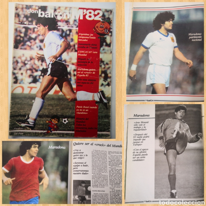 MARADONA PORTADA Y ENTREVISTA. DON BALÓN MUNDIAL ESPAÑA 1982. PAOLO ROSSI (Coleccionismo Deportivo - Revistas y Periódicos - Don Balón)
