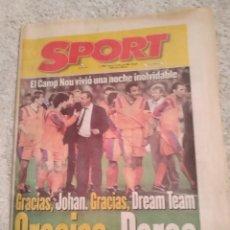 Coleccionismo deportivo: SPORT. DESPEDIDA DREAM TEAM. CRUYFF.. Lote 243178685