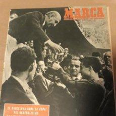 Coleccionismo deportivo: MARCA 1951 - EL BARCELONA CAMPEON DE LA COPA DEL GENERALISIMO. BARCELONA 3 REAL SOCIEDAD 0.. Lote 243240935