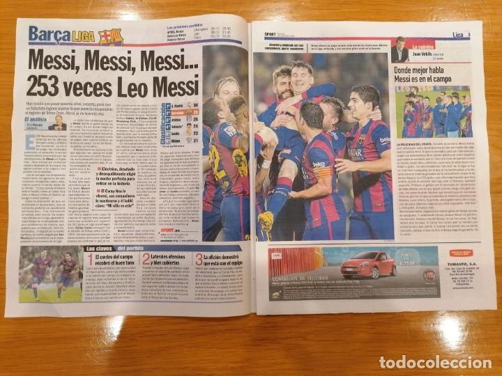 Coleccionismo deportivo: SPORT [23 de noviembre de 2014][Número 12.649][Messi, máximo goleador de la historia de la liga] - Foto 3 - 243423100