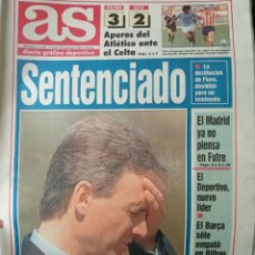 Coleccionismo deportivo: DIARIO AS 20/09/1993 VER PORTADA. Lote 243428470