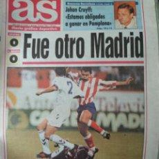 Coleccionismo deportivo: DIARIO AS 03/10/1993 VER PORTADA. Lote 243429315