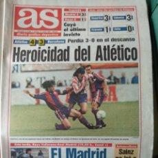 Coleccionismo deportivo: DIARIO AS 31/10/1993 VER PORTADA. Lote 243430650