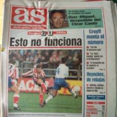 Coleccionismo deportivo: DIARIO AS 07/11/1993 VER PORTADA. Lote 243430960