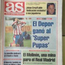 Coleccionismo deportivo: DIARIO AS 28/11/1993 VER PORTADA. Lote 243431585