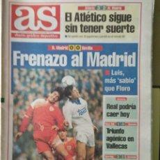 Coleccionismo deportivo: DIARIO AS 13/12/1993 VER PORTADA. Lote 243432090