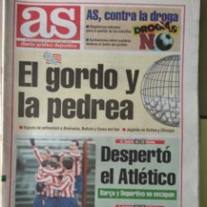 Coleccionismo deportivo: DIARIO AS 20/12/1993 VER PORTADA. Lote 243432370