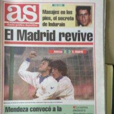 Coleccionismo deportivo: DIARIO AS 14/01/1994 VER PORTADA. Lote 243433180