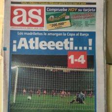 Coleccionismo deportivo: DIARIO AS 09/10/1995 VER PORTADA. Lote 243433940