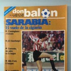 Coleccionismo deportivo: DON BALÓN 390 (ABRIL 1983) SARABIA. REGENHARDT. CUNNINGHAM. LÍBEROS. PÓSTER ARCONADA. GURUCETA.. Lote 243458035