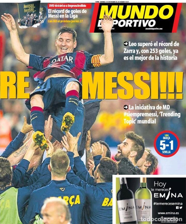 Coleccionismo deportivo: Mundo Deportivo [23 de noviembre de 2014][Número 12.649][Messi, máximo goleador de la Liga] - Foto 2 - 243627400