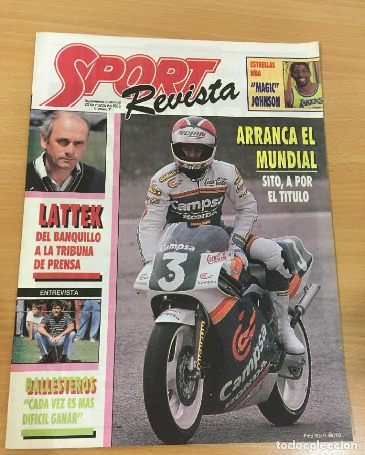 REVISTA DIARIO SPORT Nº 7 - 20 MARZO 1988 - MAGIC JOHNSON, LATTEK, SITO PONS, SEVE BALLESTEROS (Coleccionismo Deportivo - Revistas y Periódicos - Sport)