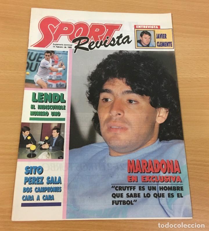 REVISTA DIARIO SPORT - 14 FEBRERO 1988 - MARADONA, SITO PONS Y PÉREZ SALA, PÓSTER DE LENDL... (Coleccionismo Deportivo - Revistas y Periódicos - Sport)