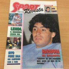 Coleccionismo deportivo: REVISTA DIARIO SPORT - 14 FEBRERO 1988 - MARADONA, SITO PONS Y PÉREZ SALA, PÓSTER DE LENDL.... Lote 243677985