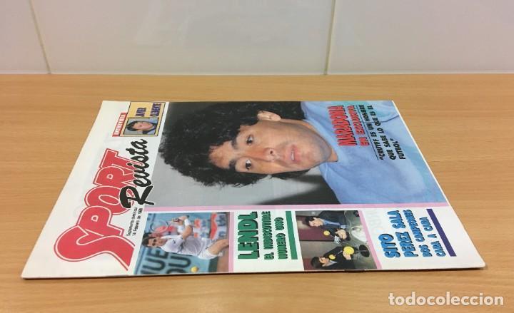 Coleccionismo deportivo: REVISTA DIARIO SPORT - 14 FEBRERO 1988 - MARADONA, SITO PONS Y PÉREZ SALA, PÓSTER DE LENDL... - Foto 2 - 243677985