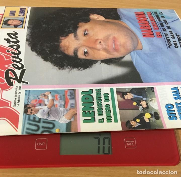Coleccionismo deportivo: REVISTA DIARIO SPORT - 14 FEBRERO 1988 - MARADONA, SITO PONS Y PÉREZ SALA, PÓSTER DE LENDL... - Foto 5 - 243677985