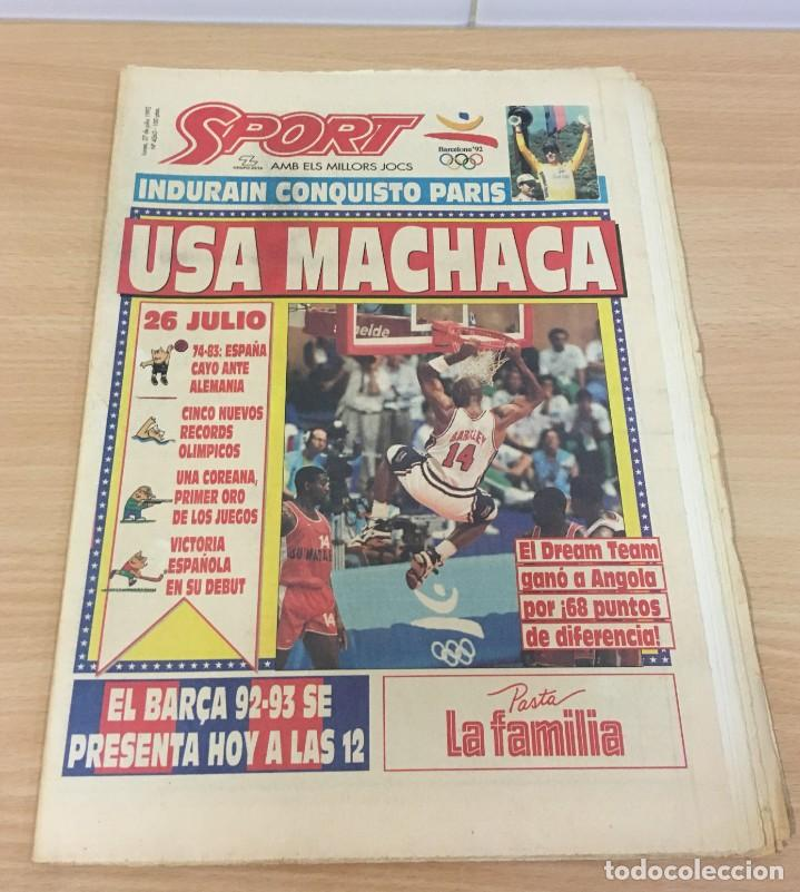 DIARIO SPORT Nº 4563 - 27 JULIO 1992 - INDURÁIN CONQUISTÓ PARÍS - DREAM TEAM USA MACHACA A ANGOLA (Coleccionismo Deportivo - Revistas y Periódicos - Sport)