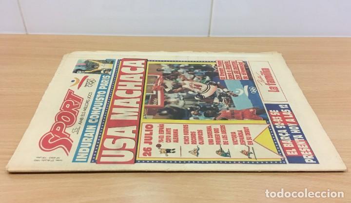 Coleccionismo deportivo: DIARIO SPORT Nº 4563 - 27 JULIO 1992 - INDURÁIN CONQUISTÓ PARÍS - DREAM TEAM USA MACHACA A ANGOLA - Foto 2 - 243679285