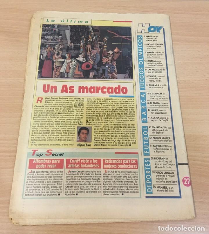 Coleccionismo deportivo: DIARIO SPORT Nº 4563 - 27 JULIO 1992 - INDURÁIN CONQUISTÓ PARÍS - DREAM TEAM USA MACHACA A ANGOLA - Foto 3 - 243679285