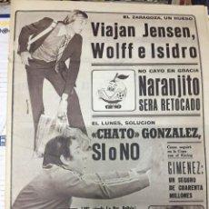 Coleccionismo deportivo: AS (9-6-1979) CHATO GONZALEZ NARANJITO ALMERIA MILAN ARGENTINA SINDICATOS FUTBOL SARONNI CICLISMO. Lote 243889580