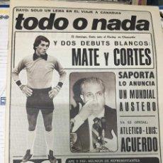 Coleccionismo deportivo: AS (1-6-1979) MATE CORTES REAL MADRID DEBUT SINDICATOS FUTBOLISTAS RODOLFO SANCHEZ. Lote 243890610