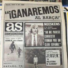 Coleccionismo deportivo: AS (26-5-1979) RAYO VALLECANO JENSEN KUSTUDIC ULI HOENESS MARYAN BENES ATLETICO MADRID BALONMANO. Lote 243891930