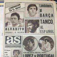 Coleccionismo deportivo: AS (23-5-1979) TANCO LANDABURU SCUDETTO ITALIA REAL BURGOS. Lote 243892175