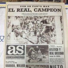 Coleccionismo deportivo: AS (21-5-1979) REAL MADRID CAMPEON LIGA ATLETICO MADRID GIJON MARATON MADRID RAYO ANGEL NIETO. Lote 243892525