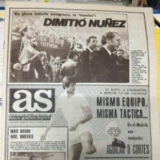 Coleccionismo deportivo: AS (19-5-1979) DIMITIO NUÑEZ BARCELONA UCEDA RAYO VALLECANO. Lote 243892880