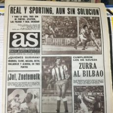 Coleccionismo deportivo: AS (14-5-1979) REAL MADRID SPORTING GIJON ZOETEMELK ATLETICO MADRID ATHLETIC BILBAO RAYO. Lote 243894605