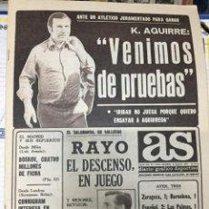 Coleccionismo deportivo: AS (13-5-1979) KOLDO AGUIRRE ARSENAL CAMPEON FA CUP BEN JIPCHO KEINO. Lote 243894775